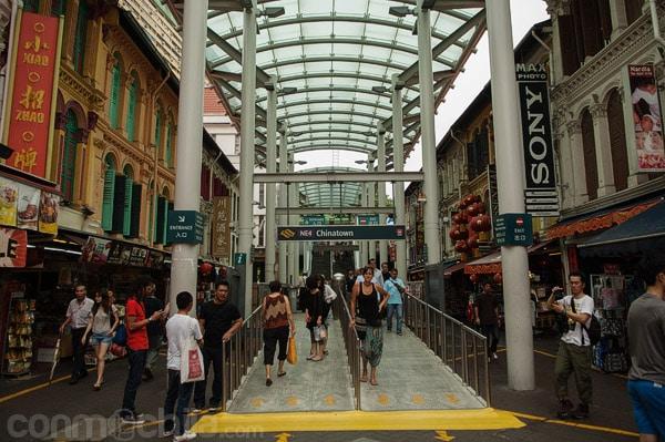La parada de metro de Chinatown