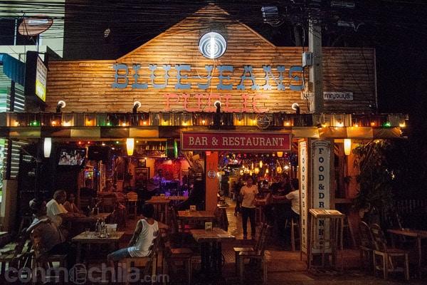El Blue Jeans bar de Kanchanaburi