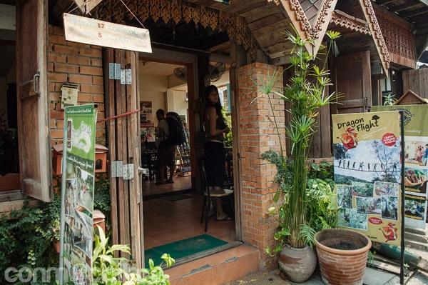 La entrada a la guesthouse