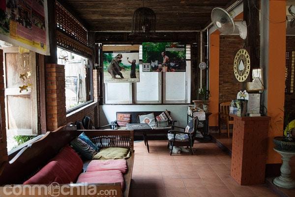 La sala de estar de la entrada