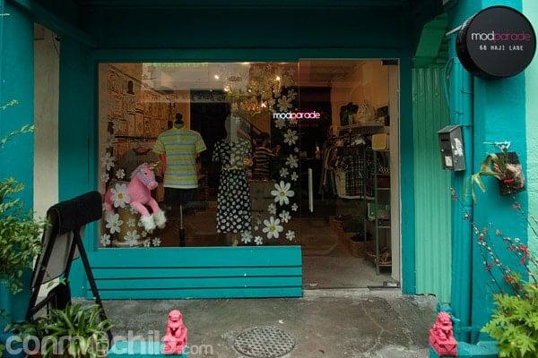 Una de las tiendas de La estrecha Haji Lane