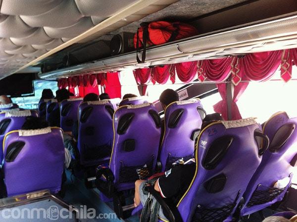 Asientos del bus