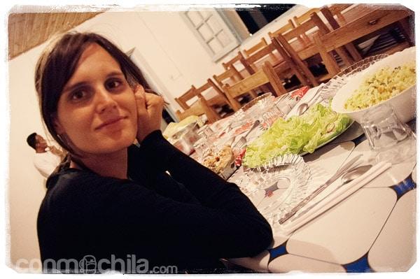 Esperando para cenar con el equipo de Julián