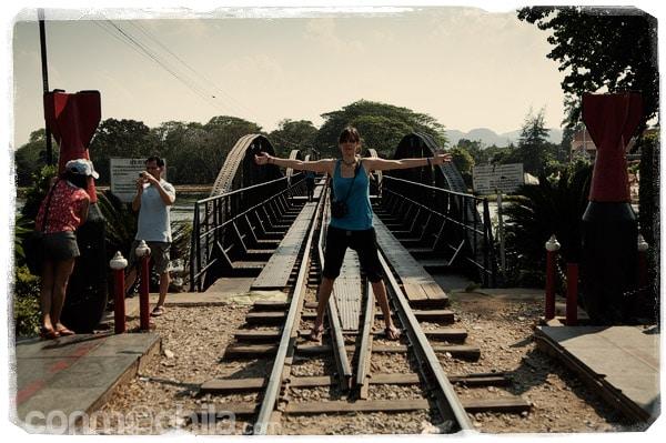 En el famoso puente sobre el río Khwae