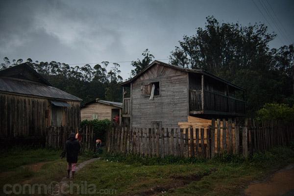 Una de las casas de madera
