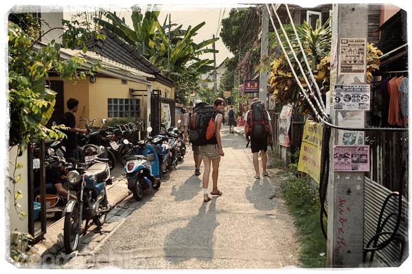 La calle de la guesthouse