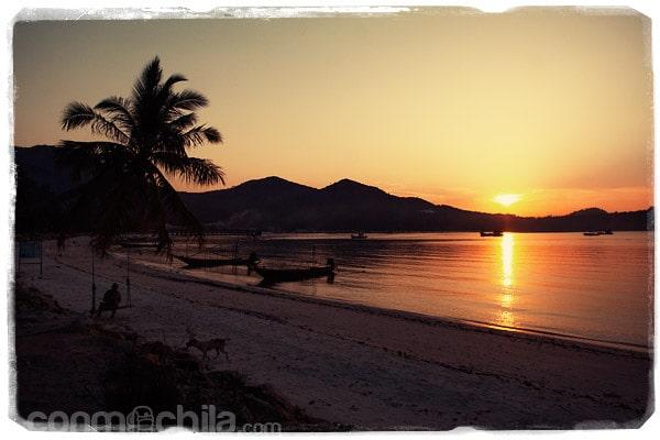Una de las preciosas puestas de sol