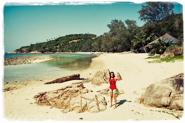 Llegada a la playa de Haad Khom