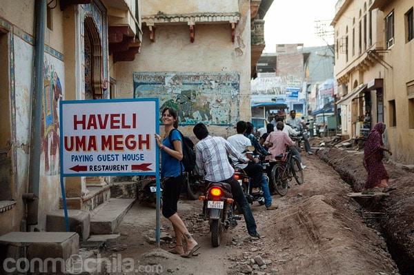Entrada a la haveli Uma Megh
