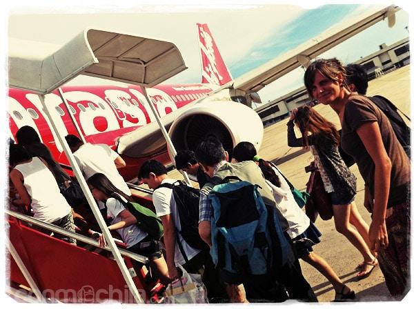 Nuestro avión a Singapur...