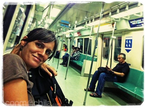 Primer viaje en metro