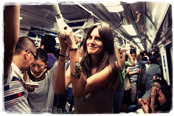 Ahora sí que hay gente en el metro
