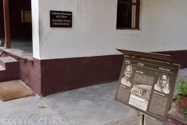 Lugar donde Gandhi pasaba el tiempo en su rueca