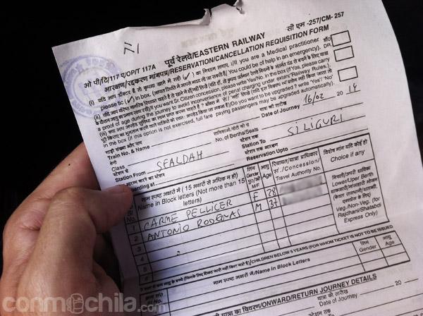 El formulario numerado