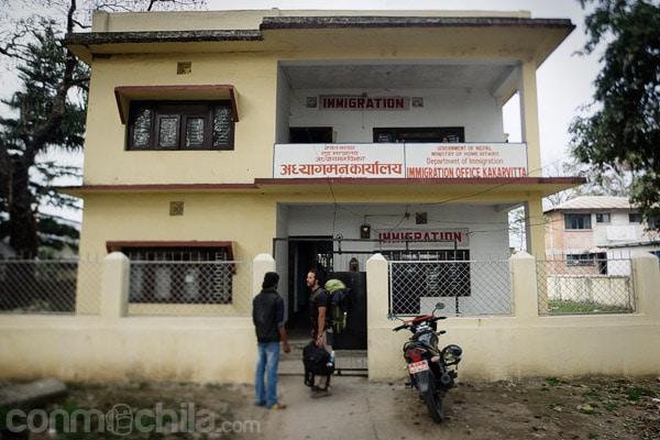 La oficina de inmigración nepalí