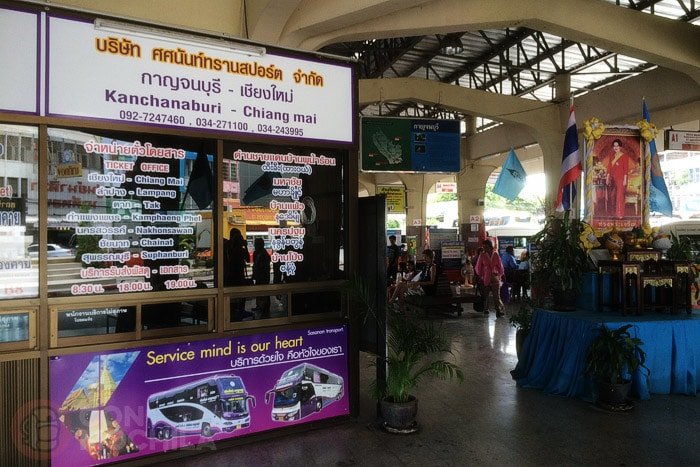 Nuevo VIP Bus para ir de Kanchanaburi a Chiang Mai