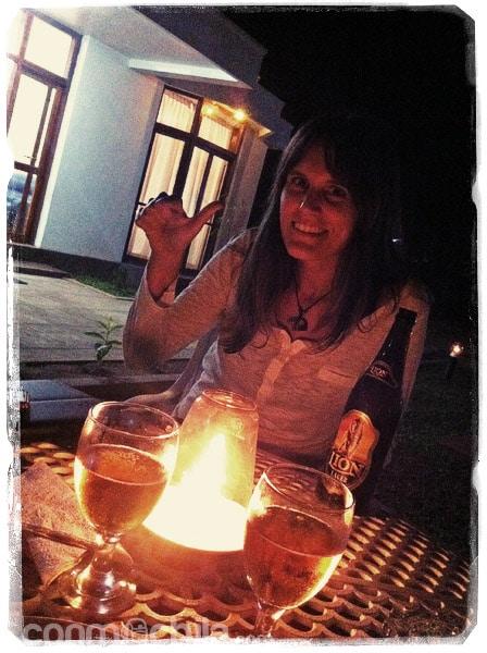 Cenando en el Hotel Merlbourne
