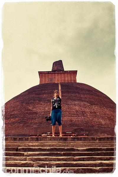 En la stupa de Jetavanaramaya
