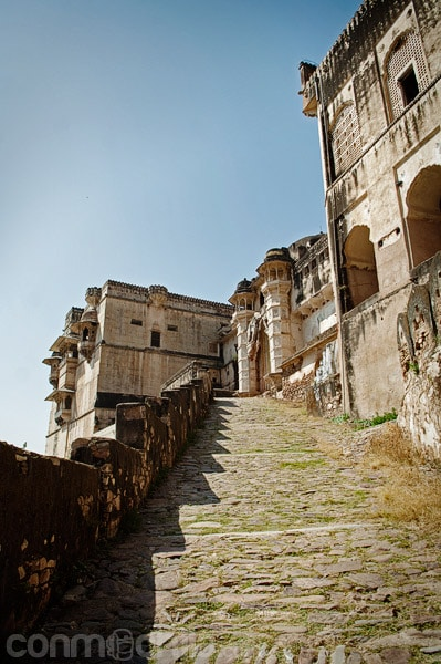 Subida hacia el palacio de Bundi