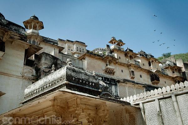 Una vista exterior del palacio