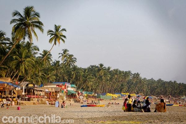 La playa de Palolem Beach