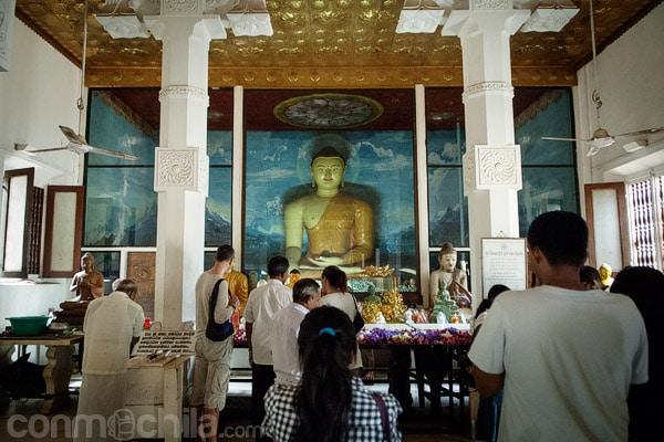 Interior de la pagoda
