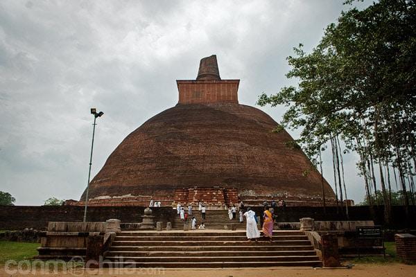 La stupa de Jetavanaramaya de Anuradhapura