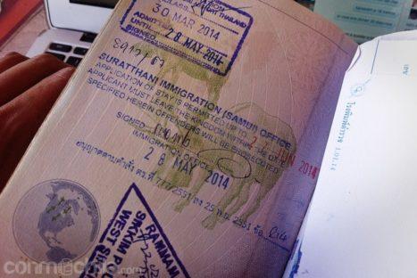 La extensión del visado de Tailandia