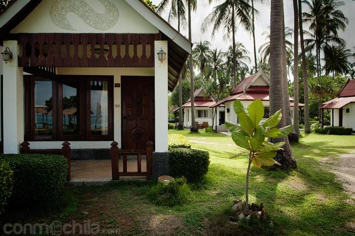 Uno de los bungalows