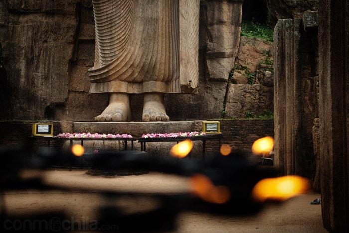 La parte inferior del Buda