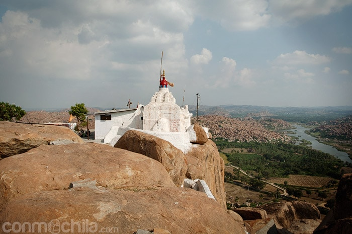 Vista del tempo de Hanuman