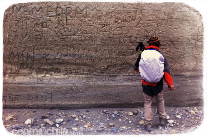 "La pared de los ""graffitis"""