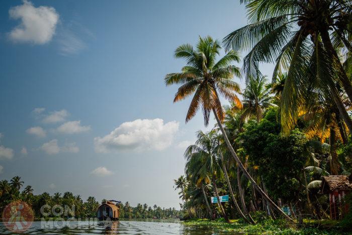 Uno de los barcos grandes que verás en los backwaters de Kerala