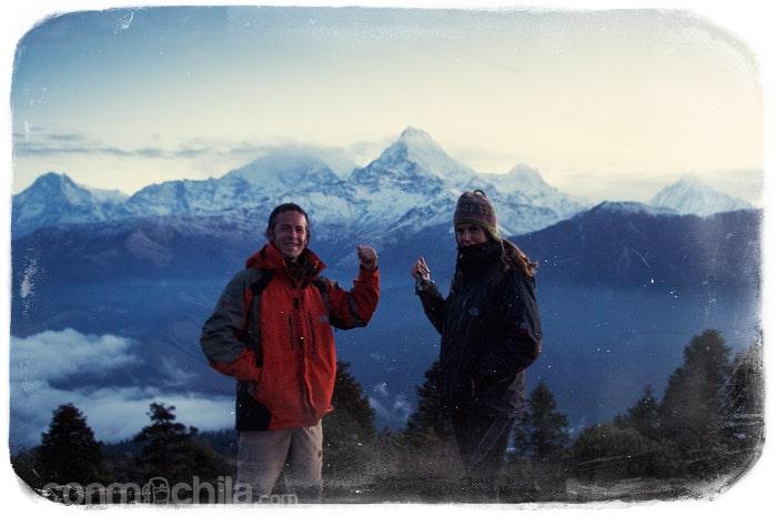 Frente a los Annapurnas