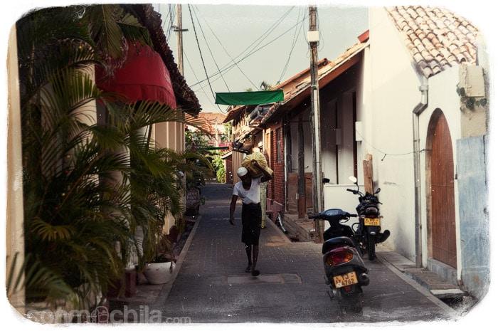 Una de las calles de Galle
