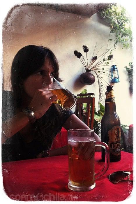 La cervecita de rigor