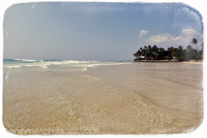 La inmensa y bonita playa