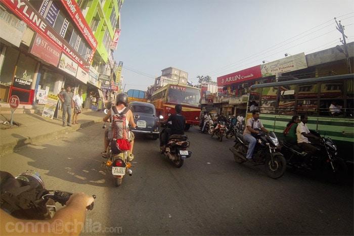 El tráfico de India