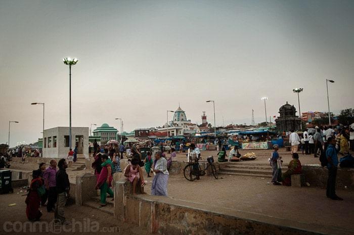 El mercado de la zona de Kanyakumari