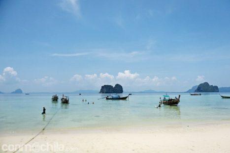 La preciosa playa de la isla