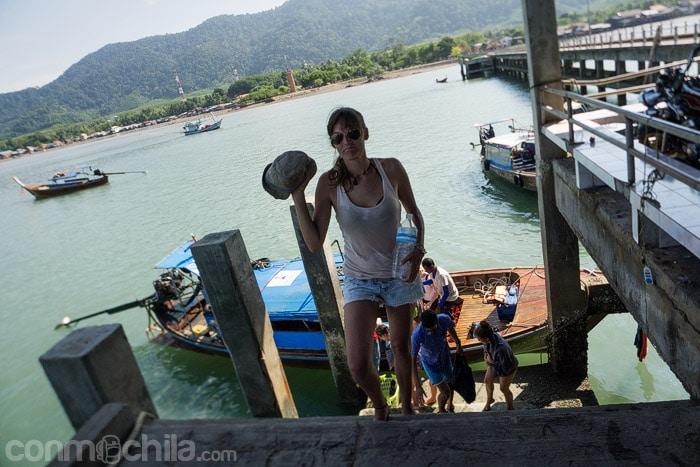 En el puerto de Ko Lanta, final de la excursión