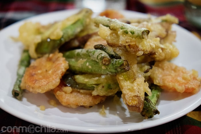Las verduras en tempura