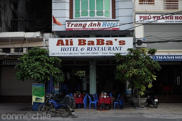 La parte del restaurante del Ali Baba's