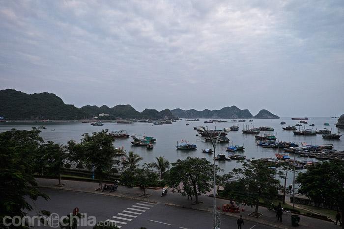 Ya las vistas del puerto de Cat Ba