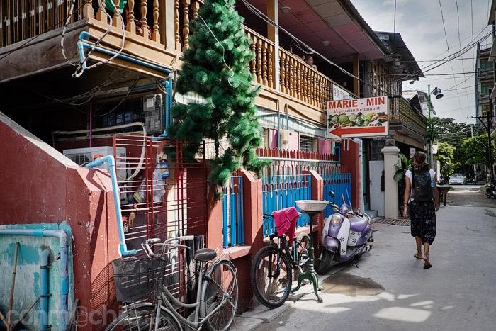 La pequeña calle del Marie Min vegetarian restaurant