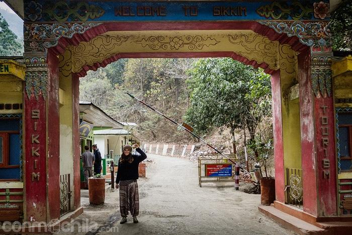 Entrada al estado Sikkim