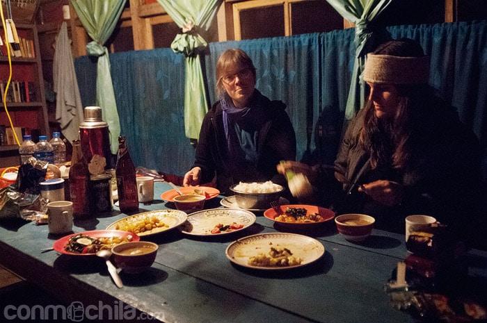 La cena en la homestay