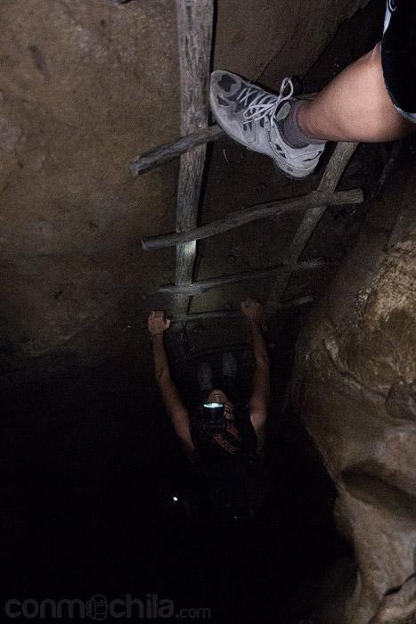 Subiendo por una escalera