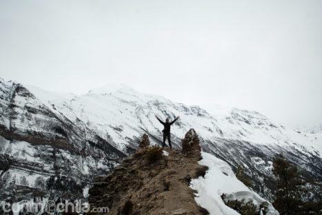 En las montañas de Nepal