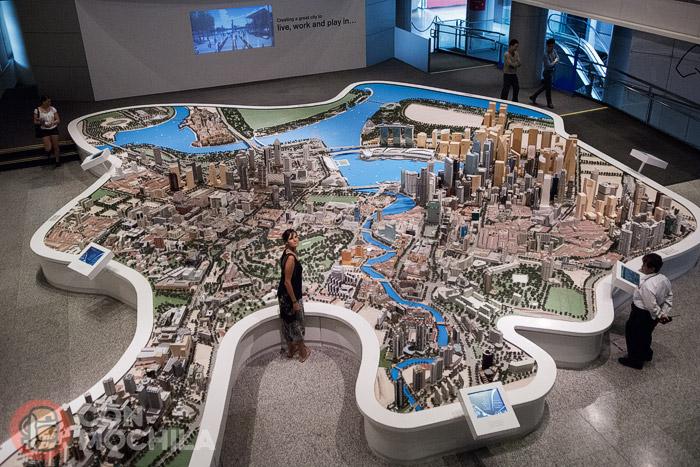 La maqueta del piso superior del Singapore City Gallery